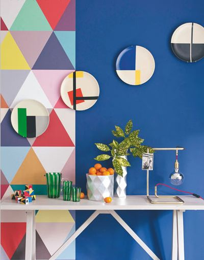 几何图案壁纸引领装饰风向标电热板